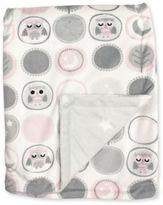 Sweet Dreams Owl City Baby Blanket in Pink