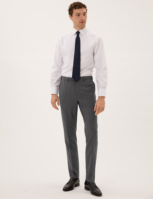 Marks and Spencer Big & Tall Tailored Fit Wool Trousers