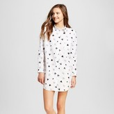 Disney Mickey Mouse Women's Long-Sleeved Button-Down Boyfriend Night Shirt