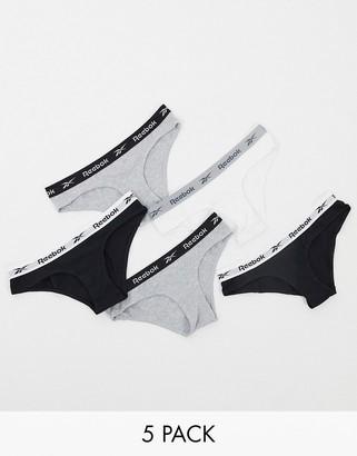 Reebok 5-pack brief in black white & grey