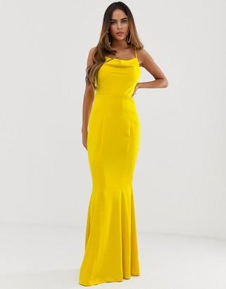 Lipsy cowl neck maxi dress in yellow