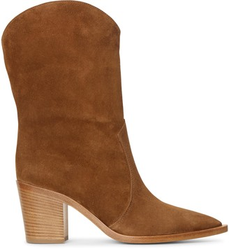 Gianvito Rossi Texas suede ankle boots