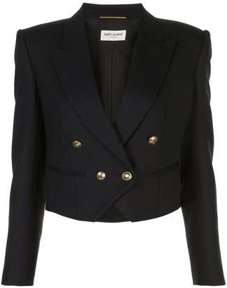 Saint Laurent Cropped Double-Breasted Blazer