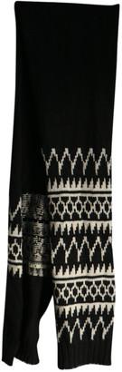 Dries Van Noten Black Wool Scarves & pocket squares