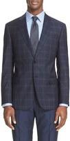 Armani Collezioni Men's 'G-Line' Trim Fit Plaid Wool Sport Coat