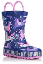 George Unicorn Print Wellington Boots