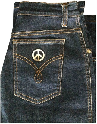 Moschino Blue Cotton Jeans for Women