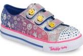 Skechers Twinkle Toes Shuffles – Step Up Light Up Sneaker (Walker & Toddler)