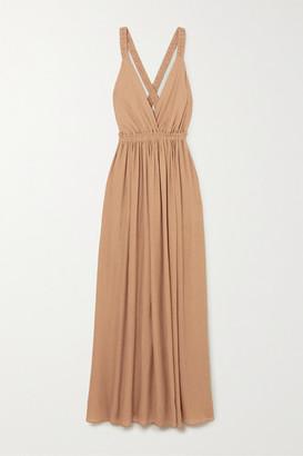 Matteau Gathered Crepon Maxi Dress - Sand