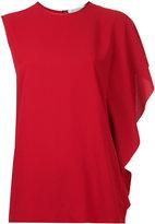 Maison Margiela asymmetric sleeve top - women - Polyester - 42