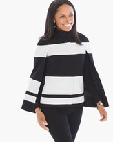 Chico's Bold Stripe Cape