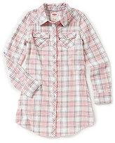 Levi's s Big Girls 7-16 Yarn-Dyed Plaid Western Dress