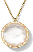 Ippolita 18K Gold Rock Candy Large Lollipop Necklace in Doublet & Diamonds