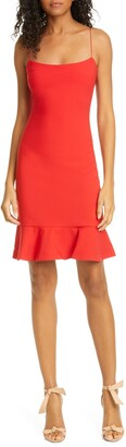 LIKELY Banks Ruffle Hem Sheath Dress
