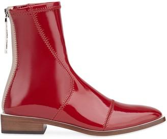 Fendi high-shine ankle length boots