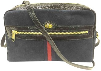 Gucci Ophidia Blue Suede Handbags