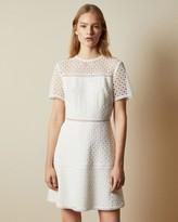 Ted Baker Short Sleeved Lace Mini Dress