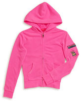 Butter Shoes Girls 7-16 Patchwork Zip-Hip Hoodie