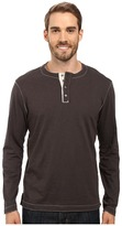 True Grit Soft Slub Long Sleeve Vintage Crew Henley