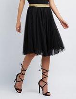 Charlotte Russe Shimmer Waistband Tulle Skirt