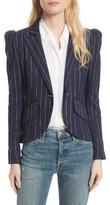 Smythe Women's Stripe Puff Sleeve Blazer