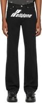 we11done Black Logo Jeans