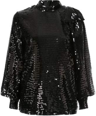 MSGM sequin bow blouse