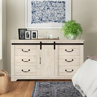 Three Posts Solihull Farmhouse 9 Drawer Double Dresser Finish: Antique White
