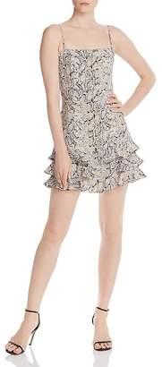 Bardot Frilled Snakeskin Dress - 100% Exclusive