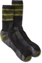 L.L. Bean SmartWool Striped Hiking Socks, Light Crew