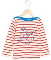 Petit Bateau Girls' Striped Anchor Print Top