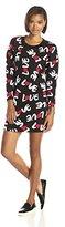 Love Moschino Women's Love Print Sweatshirt Dress