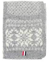 Thom Browne Snowflake Wool Scarf