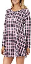Kensie Long Sleeve Scoopneck Plaid Dress