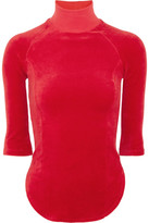 Vetements + Juicy Couture Cotton-blend Velour Top - Red