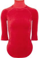 Vetements Juicy Couture Cotton-blend Velour Top - x small