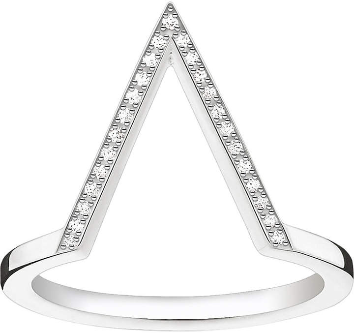 Thomas Sabo Triangle sterling silver diamond ring