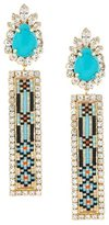 Shourouk 'Bastet' clip-on earrings