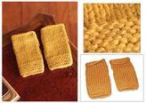 Alpaca blend fingerless gloves, 'Golden Yellow'