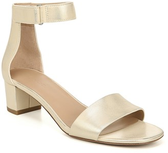 Vince Rita Block Heel Metallic Leather Sandal