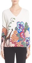 Etro Women's Safari Print Stretch Silk Knit Top