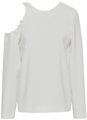 IRO Bherock Cutout Whipstitched Crepe Top
