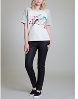 Vivienne Tam Plum And Bird S/s Sweatshirt.