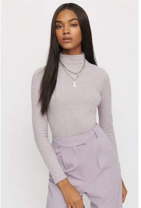 Dynamite Soft Long Sleeve Turtleneck Sweater Lavender Aura