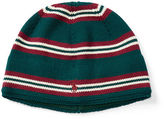 Ralph Lauren Striped Combed Cotton Beanie