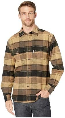 Wolverine Heritage Blake Flannel Shirt (Brown Plaid) Men's Clothing