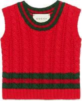 Gucci Baby cable-knit cotton vest