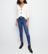 New Look Tall Ripped Knee Mid Rise Skinny Jeans