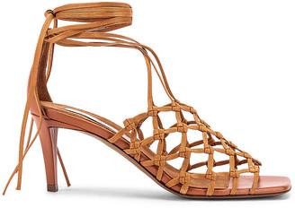 Stella McCartney Cage Sandals in Light Caramel | FWRD