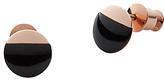 Skagen Ellen Onyx Stud Earrings, Black/Rose Gold
